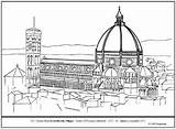 Coloring Dome Florence Cathedral Brunelleschi Lesson 256px 97kb sketch template