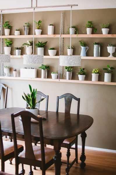 diy hanging plant shelves home  garden