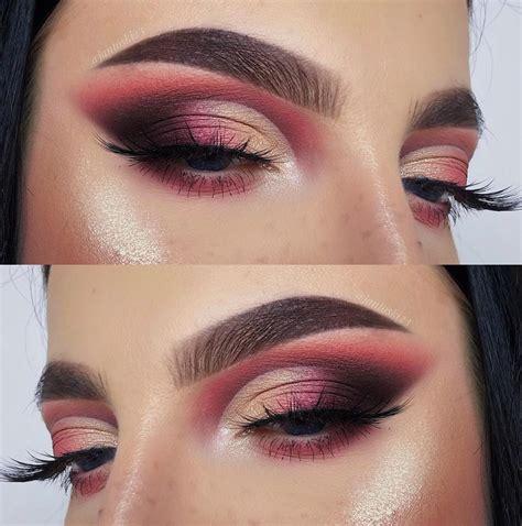 sexy pink rose gold eye makeup  ideas     page    latest fashion