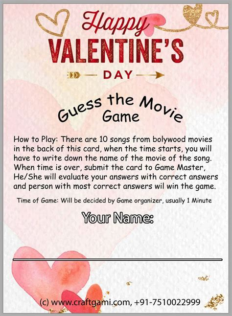 Everyone has some stickers — the challenge is to stick them on people without their noticing. Valentine Day Song Trivia Game for Kitty Party, Housie (24 Game Cards + 1 Answer Card) - Craftgami