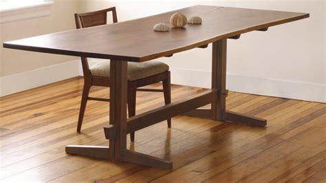 fresh    trestle table finewoodworking