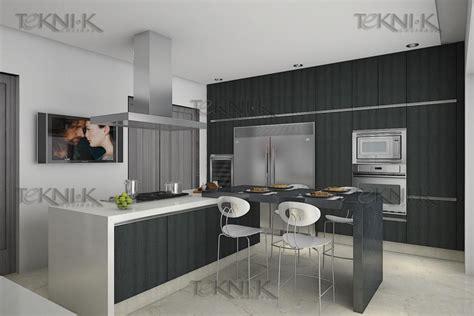 la cocina presenta una combinacion sobria entre colores