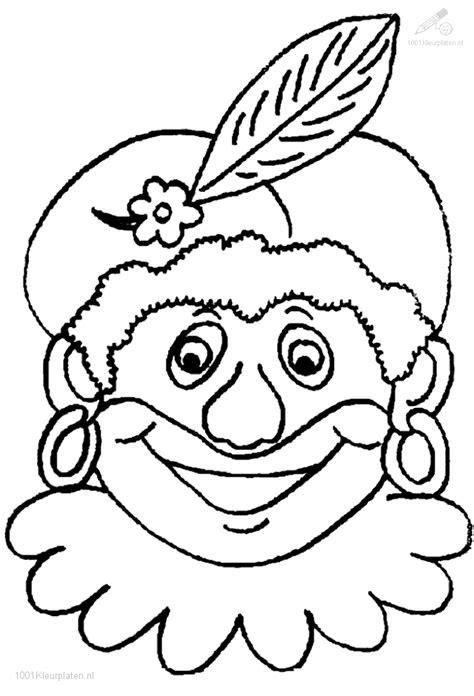 Zwarte Piet Gezicht Kleurplaat by Zwarte Piet Kleurplaat