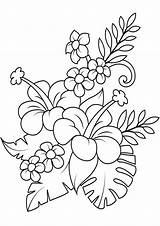 Flower Coloring Flowers Easy Tulamama Colouring Sheets Adult sketch template