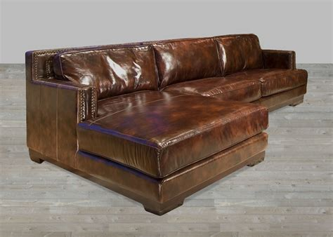 brown leather chaise sofa dark brown leather sectional sofa with chaise lounge