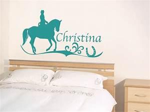 Wandtattoo Name Kind : tattoo wandtattoo aufkleber design f r kinderzimmer wunschname pferd reiten ebay ~ Indierocktalk.com Haus und Dekorationen