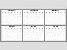 Free Printable 6 Month Calendar 2018 19 Download March