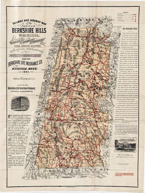 famous berkshire hills rare antique maps