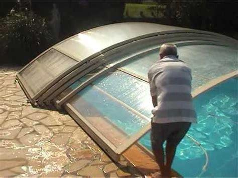 abri piscine bas telescopique poolabri un abri de piscine pratique et pas cher