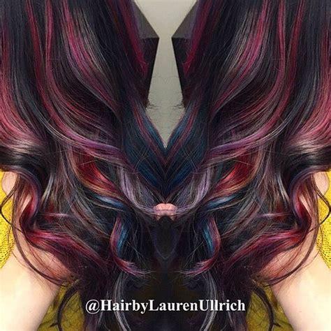trendy oil slick coloring  girls  dark hair omg