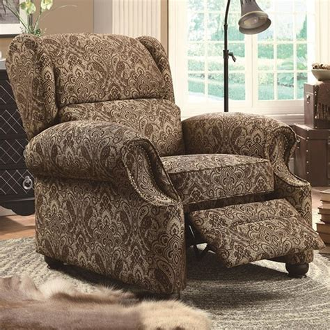brown fabric recliner sofa brown fabric reclining chair steal a sofa furniture