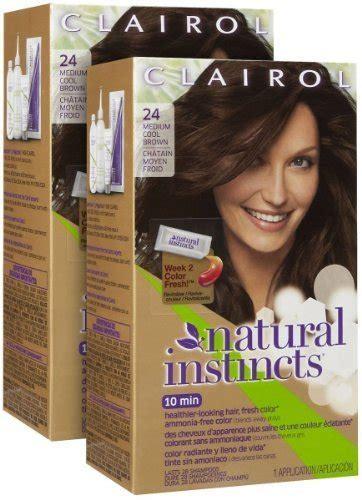 clairol natural instincts haircolor clove medium ash brown