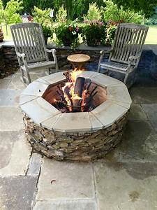 Large, Round, Outdoor, Fire, Pit, Kit, Centerpiece, For, Outdoor, Entertaining