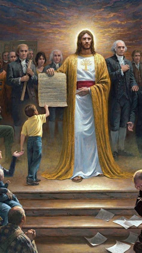 kennedy ronald reagan george washington patriotic jesus