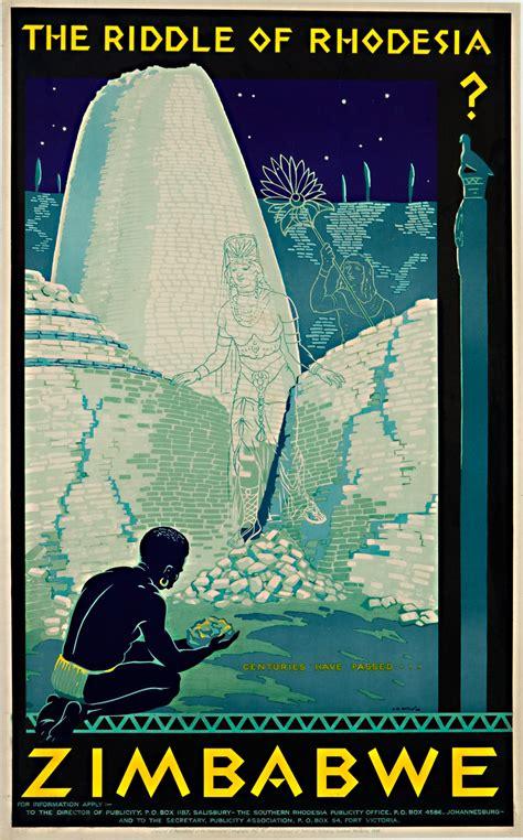 original vintage poster zimbabwe  riddle  rhodesia