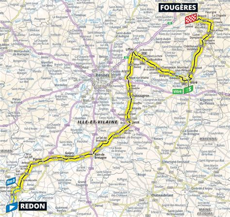 All 21 stages and the biggest classics are included. Tour de France 2021 Parcours etappe 4: Redon - Fougères