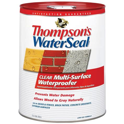 thompson s waterseal 5 gal clear multi surface