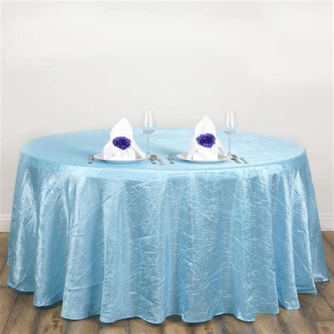 Light Blue Tablecloth by 117 Quot Light Blue Crinkle Taffeta Tablecloth Light