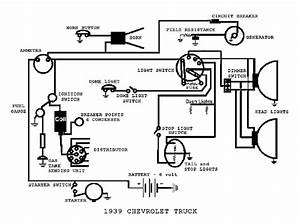 Complete Electrical Wiring Diagram For 1939 Chevrolet