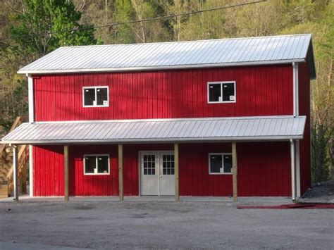 Two-Story Pole Barn House Plans