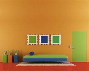 Color schemes for orange walls