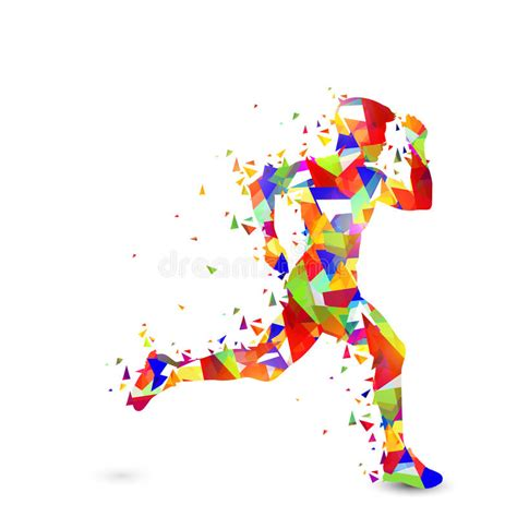 abstract running man  sports concept stock
