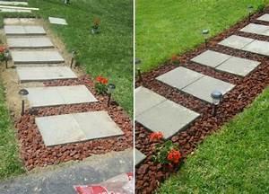 Betonplatten Verlegen Auf Erde : gartenweg anlegen mit 6 verschiedenen anleitungen ~ Whattoseeinmadrid.com Haus und Dekorationen
