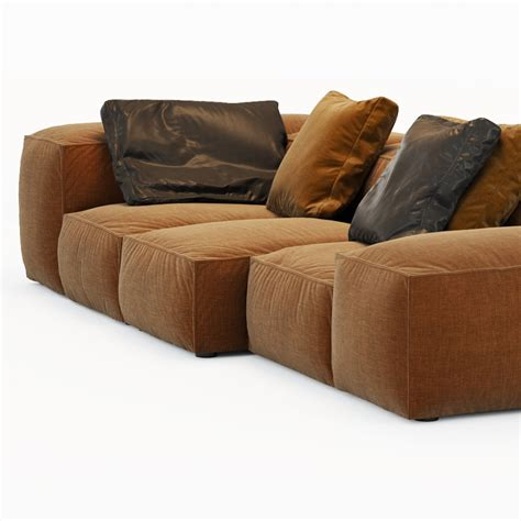 living divani sofa sofa extrasoft living divani 3d model cgstudio