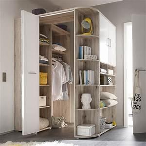 Kleiderschrank Corner begehbarer Eckschrank Schrank in