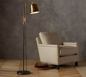 Knox bronze brass task floor lamp pottery barn for Atelier task floor lamp bronze