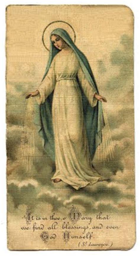 vintage clip art mary holy card  graphics fairy