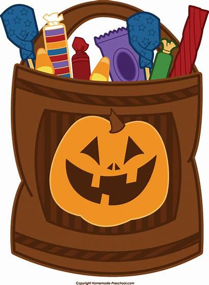 Trick Halloween Treat Clipart Candy Bag Treating