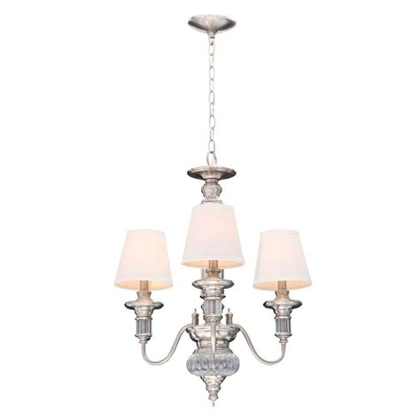 hton bay gala 3 light polished nickel chandelier 14696