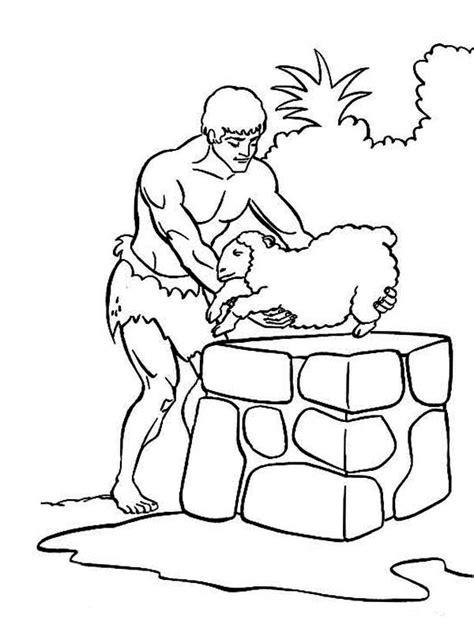 Kain En Abel Kleurplaat by Abel Sacrifice Sheep In Abel And Cain Coloring Page