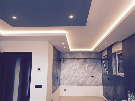 Faretti Led Per Controsoffitto by Controsoffitto In Cartongesso Con Illuminazione A Led