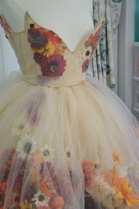 making  fall flower fairy part  fairy dress diy