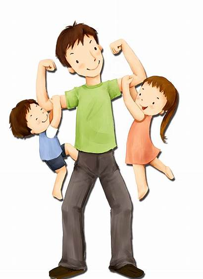 Dad Father Clipart Child Boy Illustration Sunday