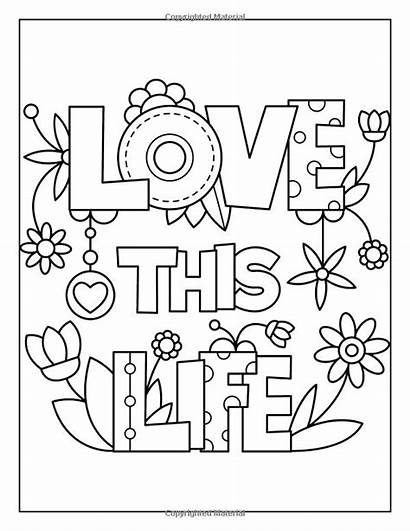 Coloring Quotes Inspirational Inspiring Pages Adults Easy