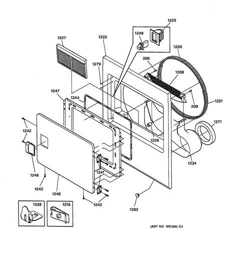 front panel door diagram parts list for nvl333ey0ww hotpoint parts dryer parts