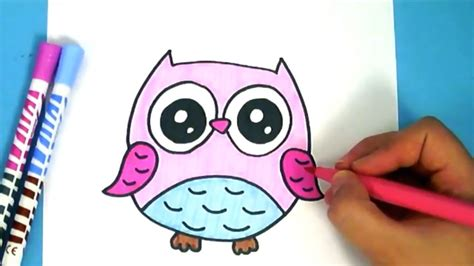 bilder zum nachmalen für kinder eule ganz leicht zeichnen