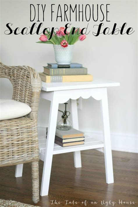 farmhouse style end tables home decorating diy projects farmhouse style scallop end