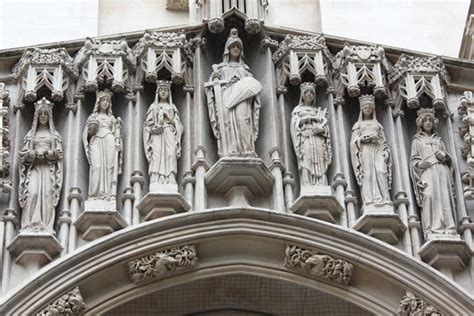 Statues On Westminster Abbey Free Stock Photo