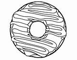 Donut Coloring Pages Line Donuts Drawing Printable Doughnut Cute Coloringcrew Sheets Food Frosting Template Yummy Colouring Pasta Bread Dougnut Sketch sketch template
