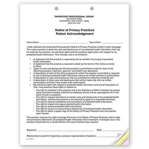 Notice Of Privacy Practices Template by Product Details Designsnprint
