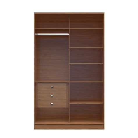 1 0 54 33 inch wide wardrobe with 3 drawers in
