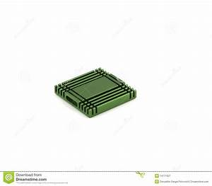 Green Radiator For Chip (computer). Royalty Free Stock ...