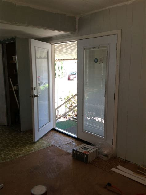 double door replaces sliding glass broken door  pic