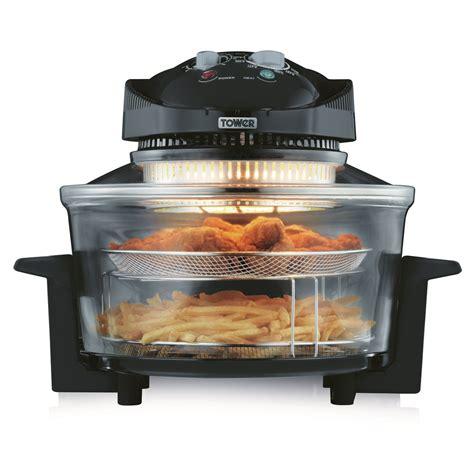 fryer oven air tower healthy oil 17l airwave low halogen health fat 1300w fryers frying litre appliances barnitts