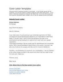 free exle of a cover letter for a resume style sle free cover letter templates recentresumes