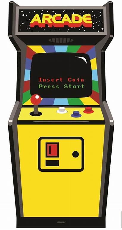 Arcade Clipart Games Machine Cabinet 80s Golden